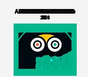 Tripadvisor Certificat d'Excellence 2016 Silent Divers
