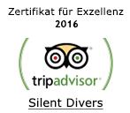 Tripadvisor Zertifikat für Exzellenz  2016 Silent Divers